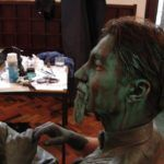 18 Živi kip Plečnik, priprava