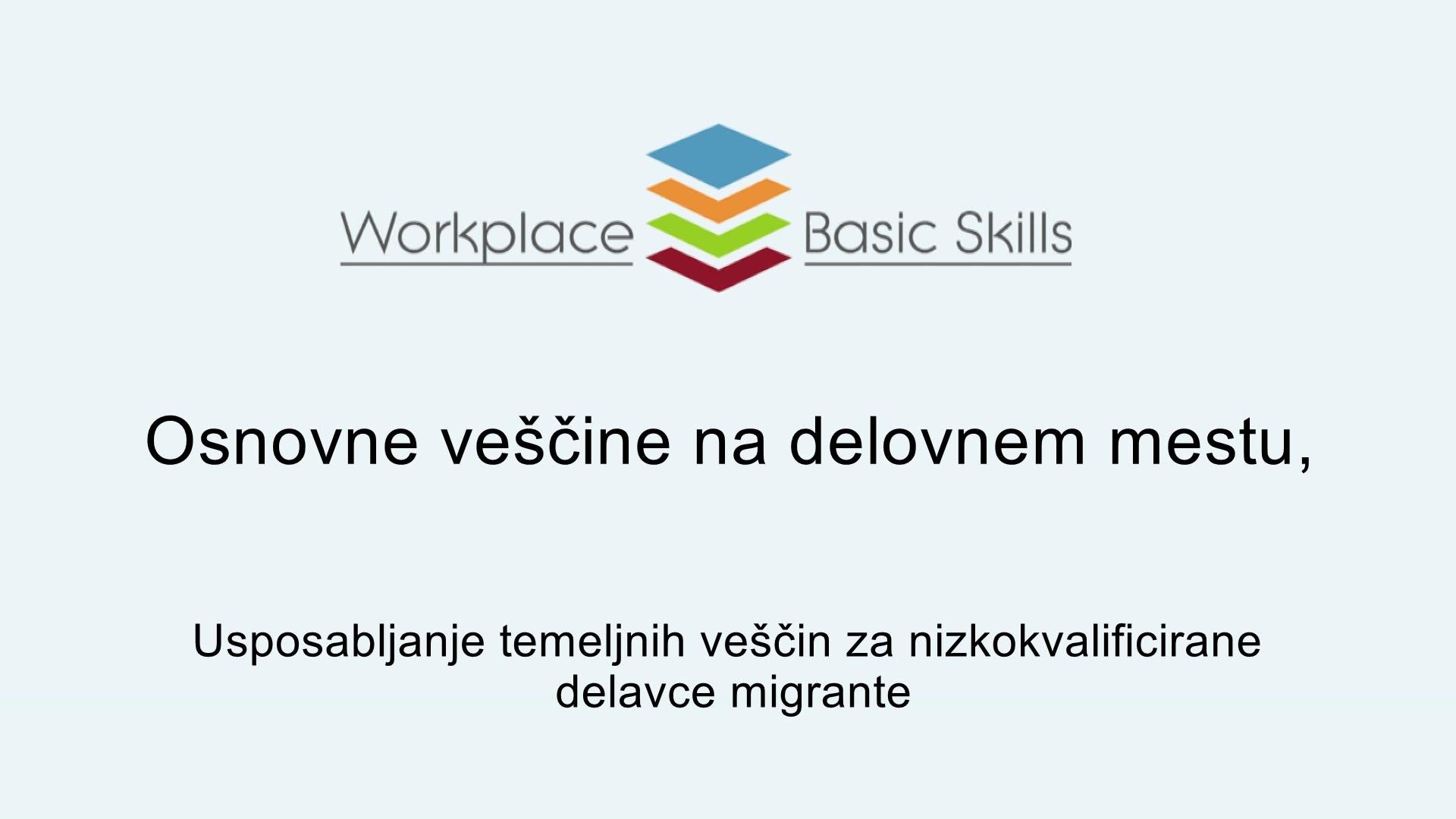 Osnovne veščine na delovnem mestu